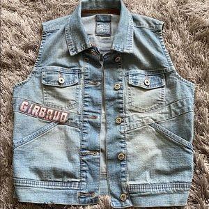 Marithe Francois Girbaud denim jeans vest